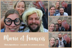 Exemple de montage photobooth pour mariage