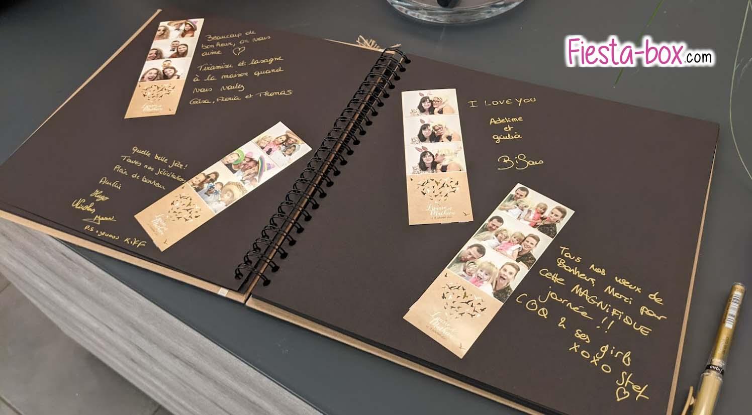 Exemple de livre d'or pour photobooth